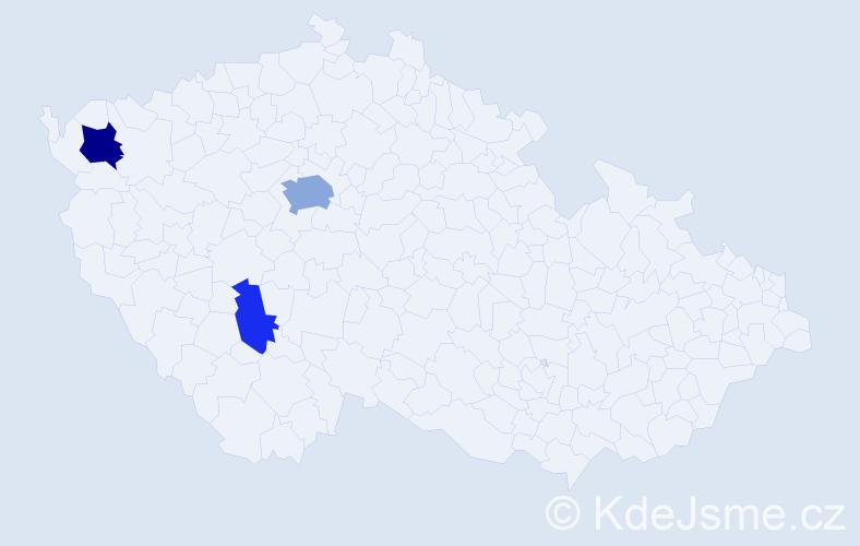Příjmení: 'Čerňavský', počet výskytů 7 v celé ČR
