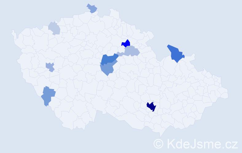 Příjmení: 'Bagárová', počet výskytů 51 v celé ČR