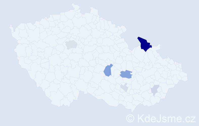 Příjmení: 'Jurke', počet výskytů 19 v celé ČR