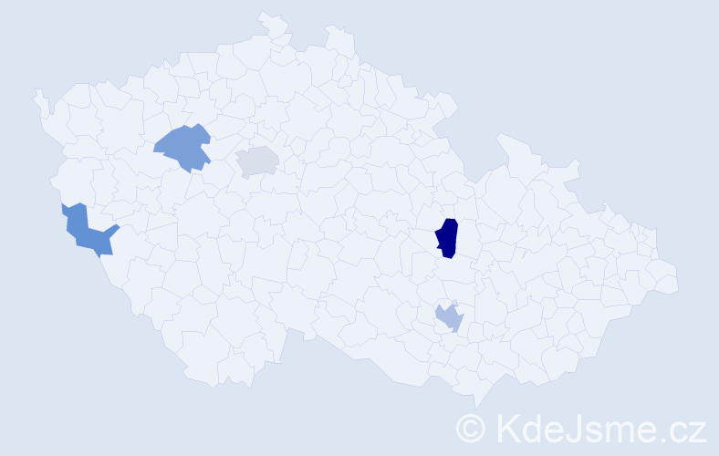 Příjmení: 'Čisáriková', počet výskytů 8 v celé ČR