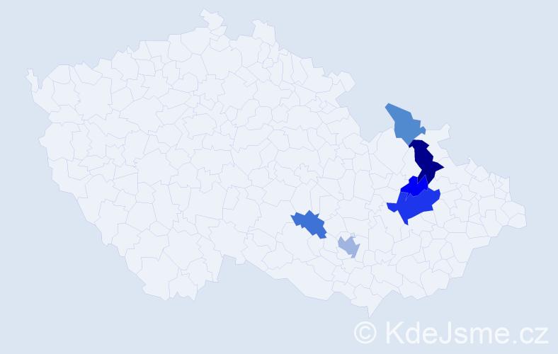 Příjmení: 'Kunzfeld', počet výskytů 11 v celé ČR