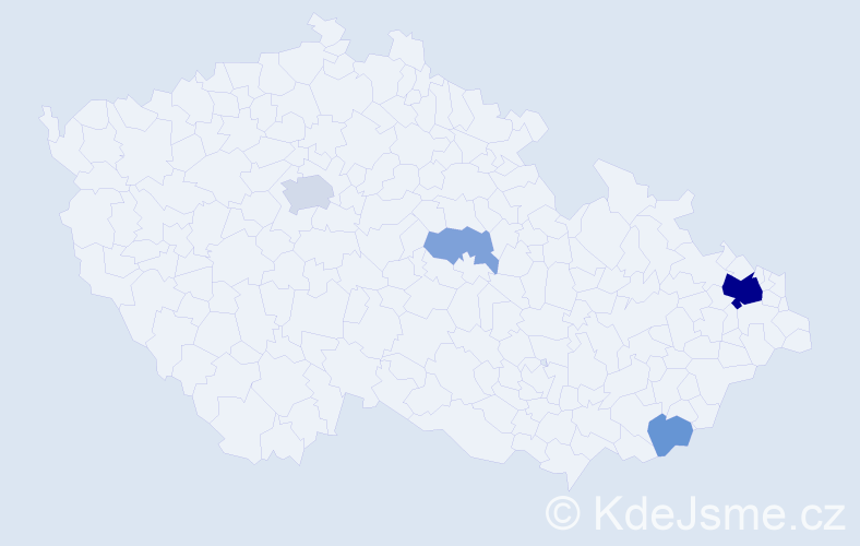 Příjmení: 'Čajčíková', počet výskytů 14 v celé ČR
