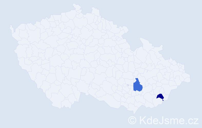 Příjmení: 'Lautierová', počet výskytů 5 v celé ČR