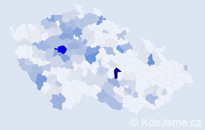 Příjmení: 'Konvalinková', počet výskytů 534 v celé ČR