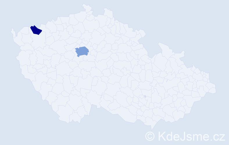 Příjmení: 'Abdulnour', počet výskytů 7 v celé ČR