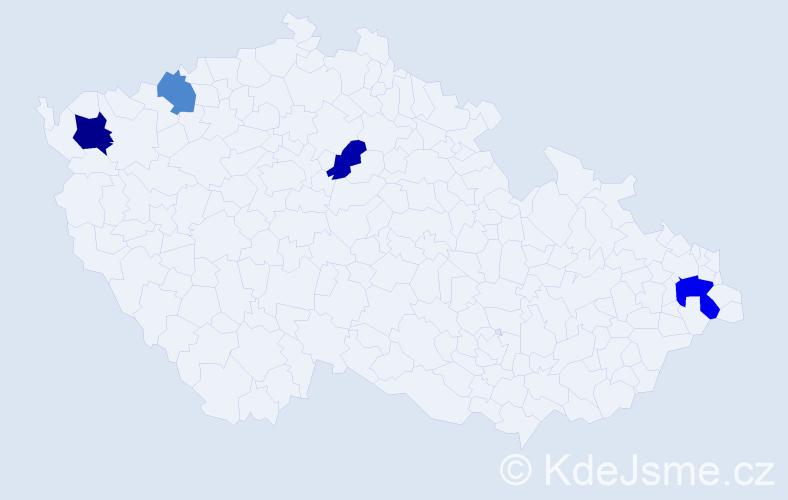 Příjmení: 'Čopak', počet výskytů 6 v celé ČR