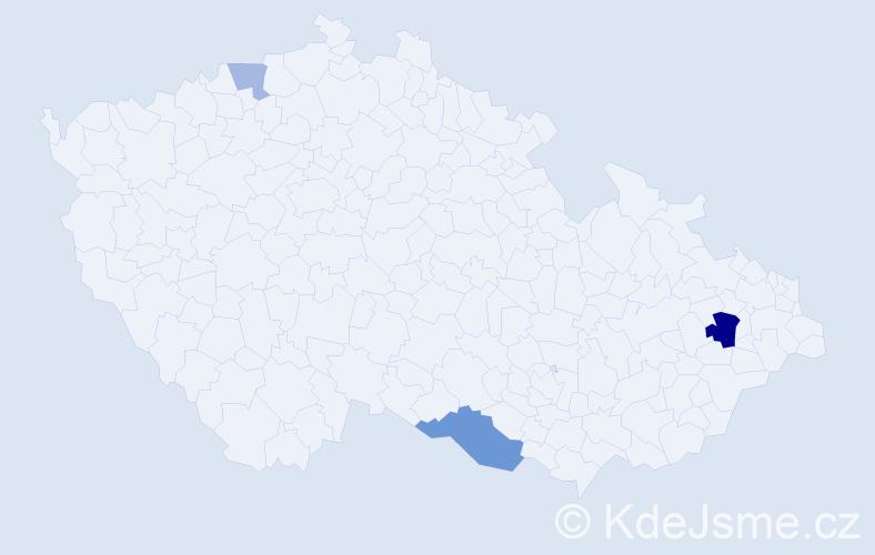 Příjmení: 'Imeri', počet výskytů 13 v celé ČR