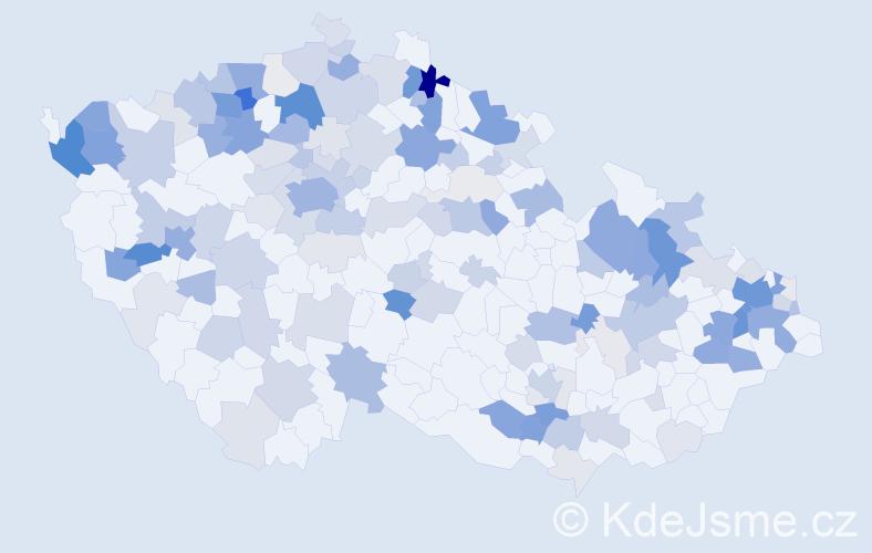 Příjmení: 'Friedrich', počet výskytů 485 v celé ČR