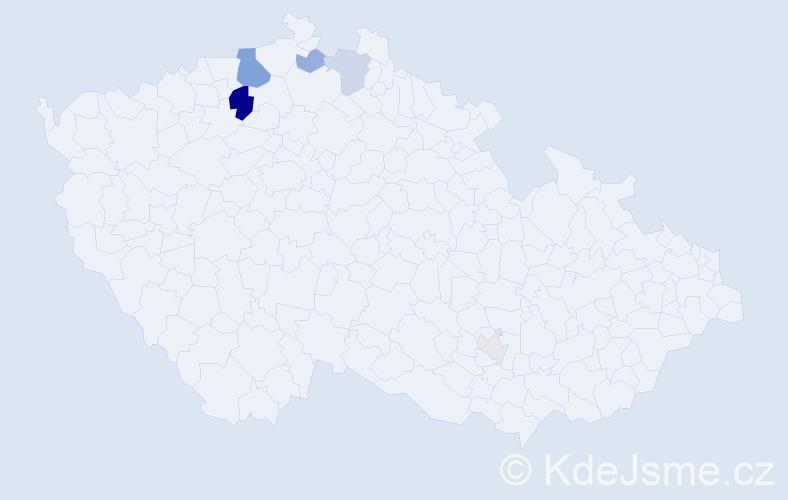 Příjmení: 'Focke', počet výskytů 28 v celé ČR