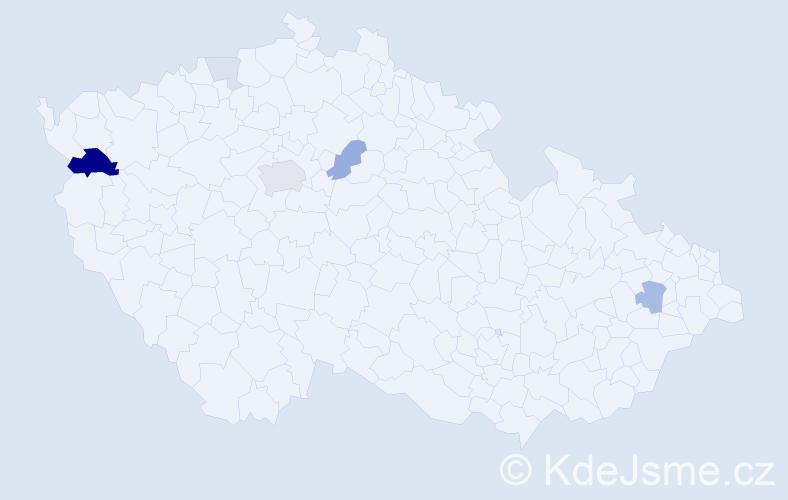 Příjmení: 'Apjár', počet výskytů 17 v celé ČR