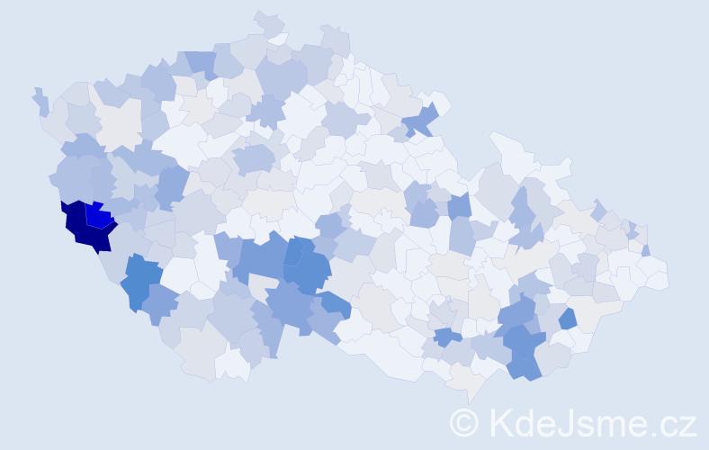 Příjmení: 'Hánová', počet výskytů 805 v celé ČR