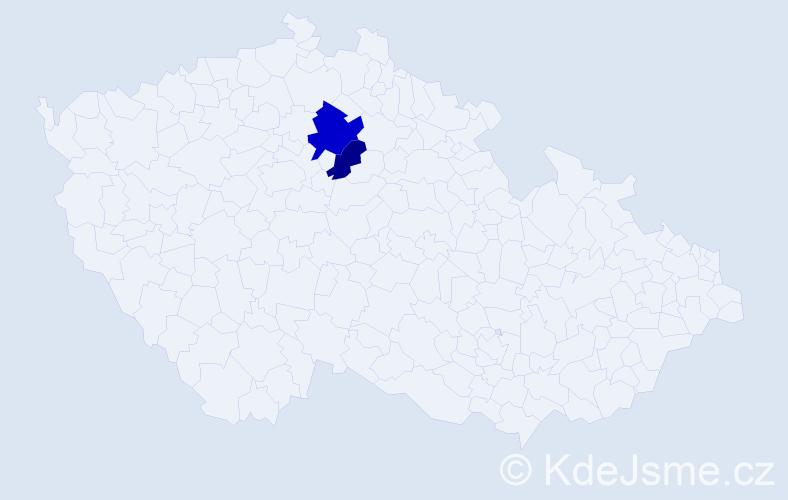 Příjmení: 'Čenkei', počet výskytů 3 v celé ČR