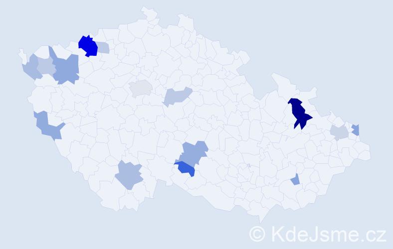 Příjmení: 'Benedikovič', počet výskytů 33 v celé ČR
