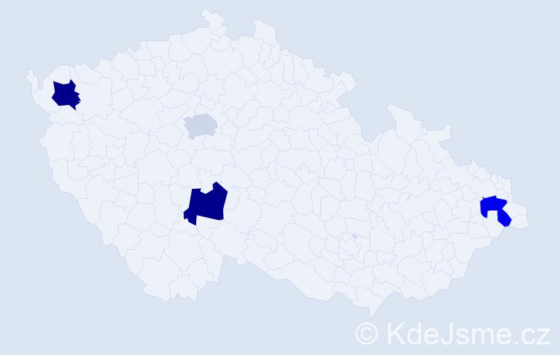 Příjmení: 'Gardošová', počet výskytů 11 v celé ČR