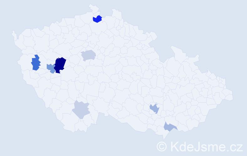 Příjmení: 'Audes', počet výskytů 24 v celé ČR