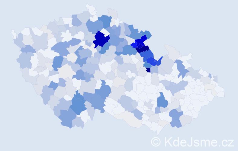 Příjmení: 'Hůlková', počet výskytů 931 v celé ČR