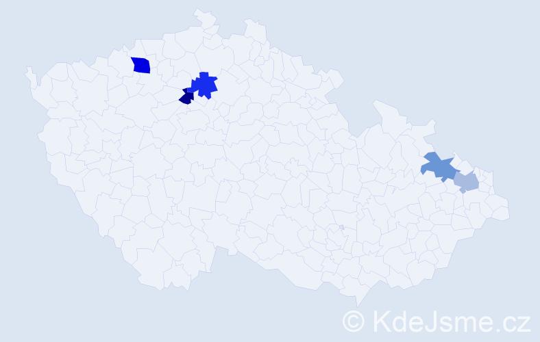 Příjmení: 'Kvasná', počet výskytů 12 v celé ČR