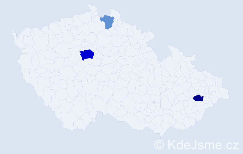 Příjmení: 'Chrzanowská', počet výskytů 16 v celé ČR