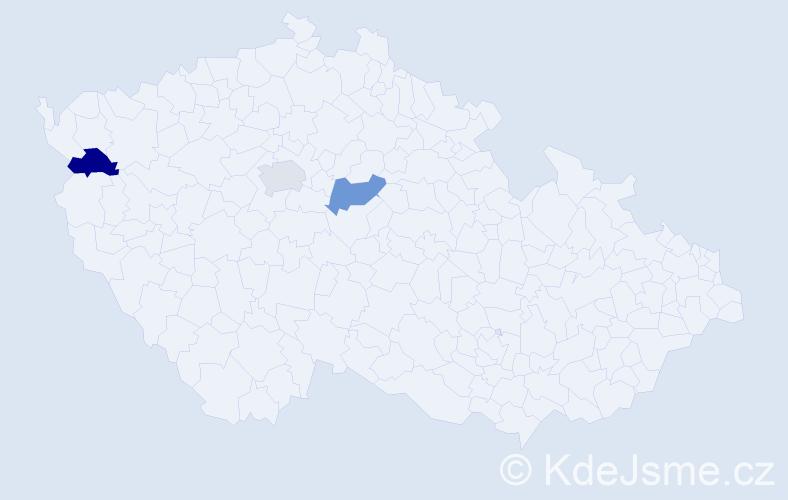 Příjmení: 'Borona', počet výskytů 3 v celé ČR