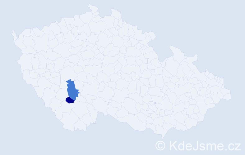Příjmení: 'Fakolová', počet výskytů 10 v celé ČR