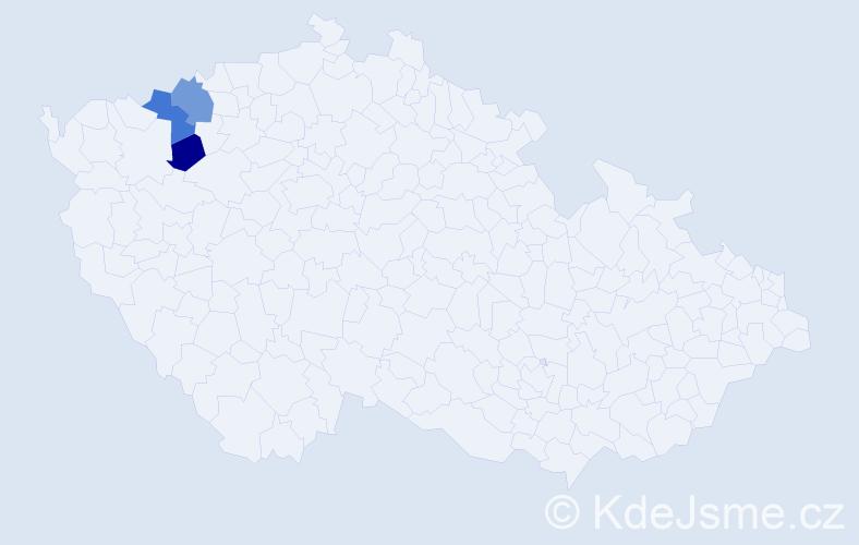 Příjmení: 'Gasper', počet výskytů 8 v celé ČR