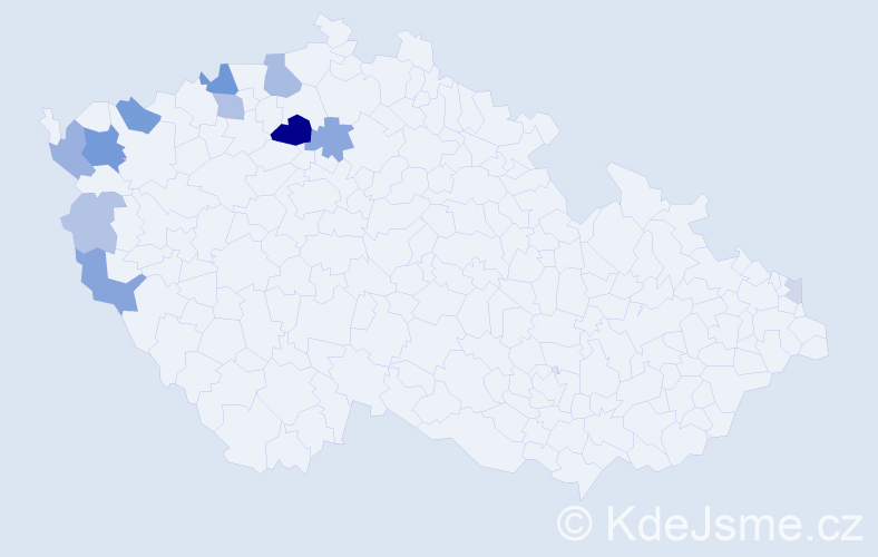 Příjmení: 'Csorba', počet výskytů 30 v celé ČR