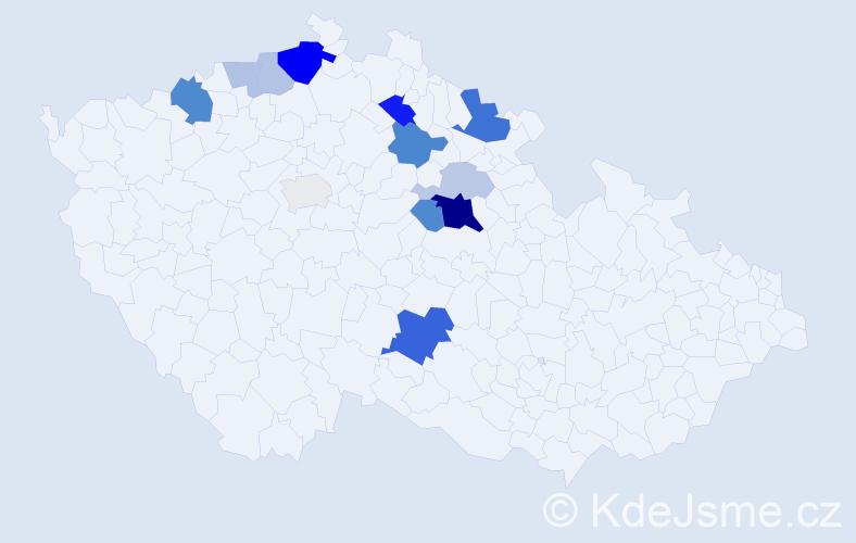 Příjmení: 'Jiřišťová', počet výskytů 32 v celé ČR
