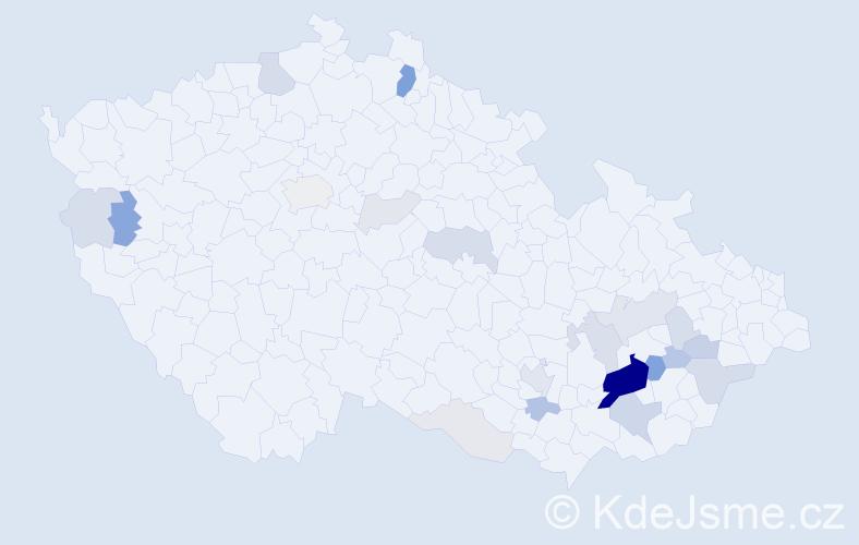 Příjmení: 'Bleša', počet výskytů 79 v celé ČR