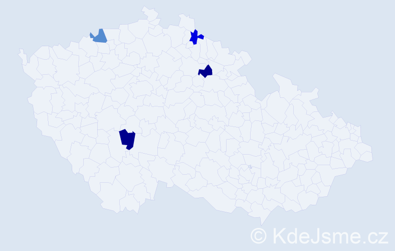 Příjmení: 'Bambuškarová', počet výskytů 4 v celé ČR
