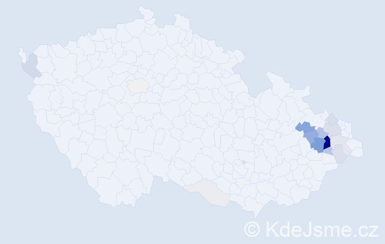 Příjmení: 'Chromečka', počet výskytů 83 v celé ČR