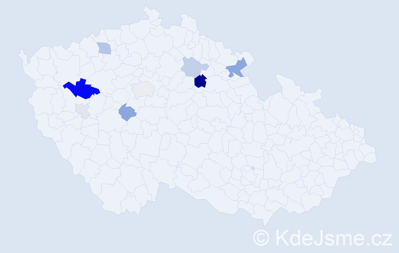Příjmení: 'Eremiaš', počet výskytů 18 v celé ČR
