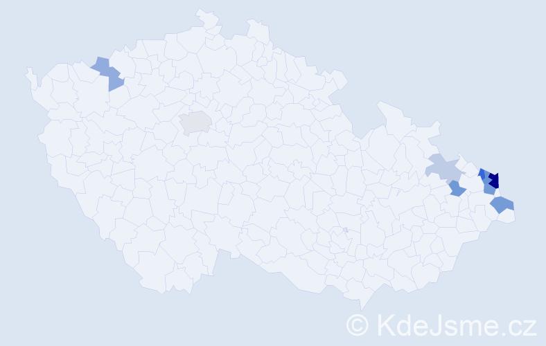 Příjmení: 'Ciosk', počet výskytů 22 v celé ČR