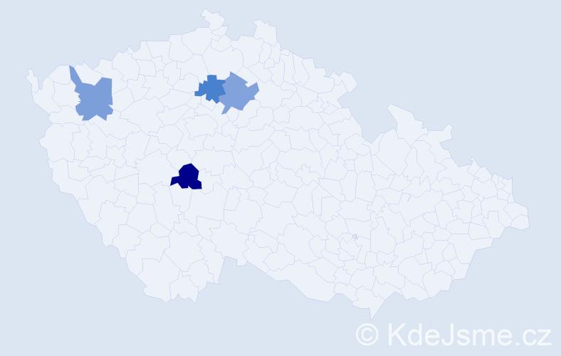 Příjmení: 'Demenová', počet výskytů 4 v celé ČR
