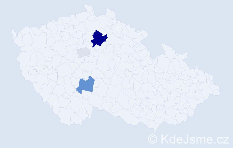 Příjmení: 'Bělanská', počet výskytů 5 v celé ČR