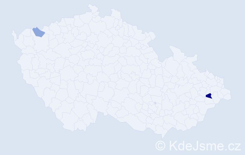 Příjmení: 'Jasimová', počet výskytů 4 v celé ČR