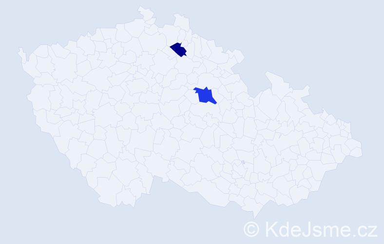 Příjmení: 'Chamalidis', počet výskytů 3 v celé ČR