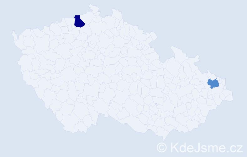 Příjmení: 'Agathos', počet výskytů 2 v celé ČR