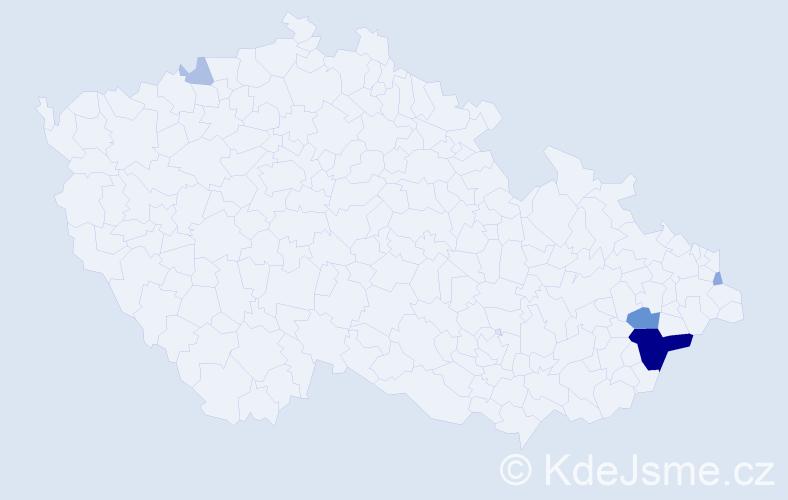 Příjmení: 'Ezechýl', počet výskytů 17 v celé ČR