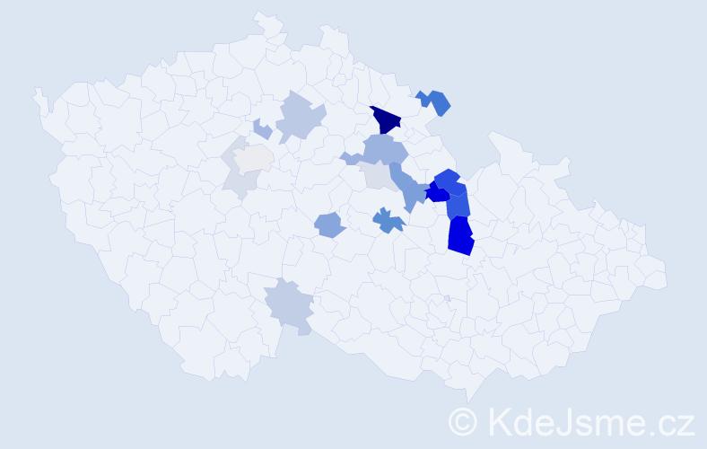Příjmení: 'Leierová', počet výskytů 43 v celé ČR