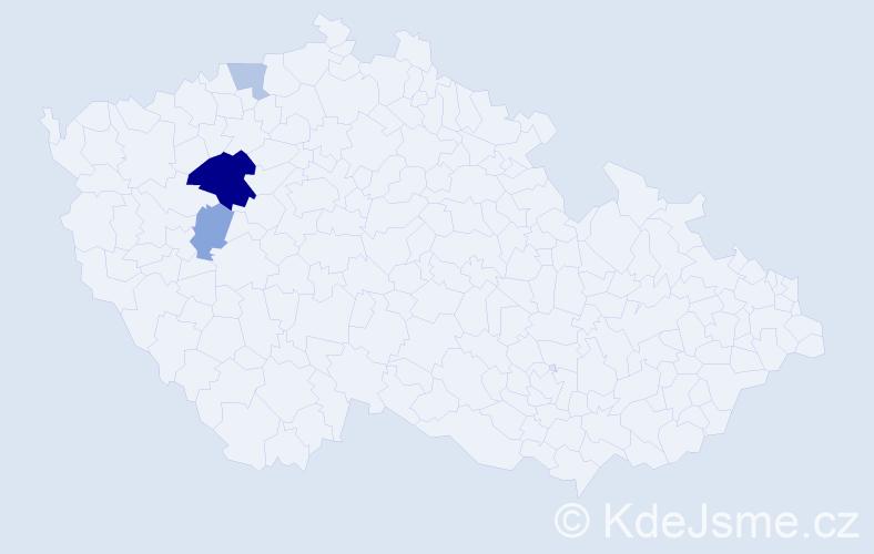 Příjmení: 'Capelli', počet výskytů 7 v celé ČR