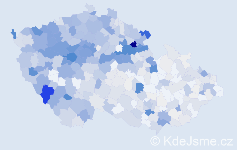 Příjmení: 'Holeček', počet výskytů 2756 v celé ČR