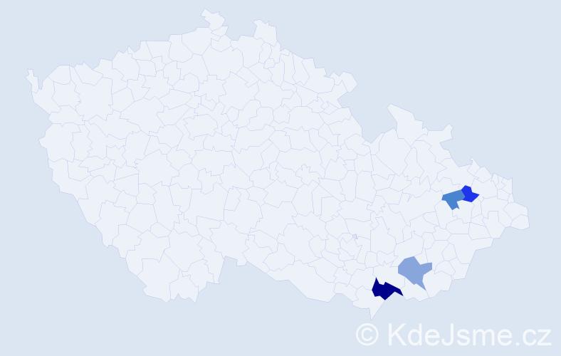 Příjmení: 'Kamenovská', počet výskytů 12 v celé ČR