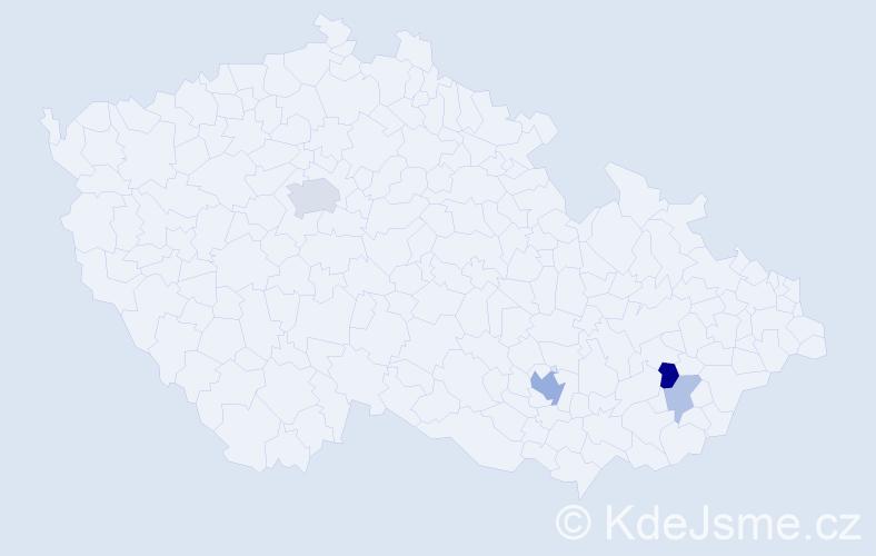 Příjmení: 'Heliš', počet výskytů 10 v celé ČR