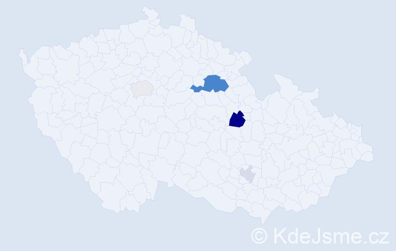 Příjmení: 'Hlousek', počet výskytů 8 v celé ČR