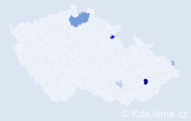 Příjmení: 'Chmurčiaková', počet výskytů 11 v celé ČR