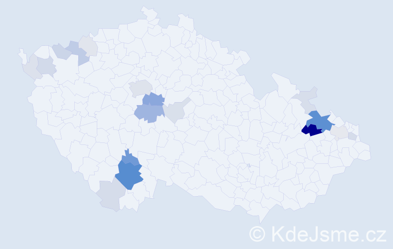 Příjmení: 'Čermínová', počet výskytů 78 v celé ČR