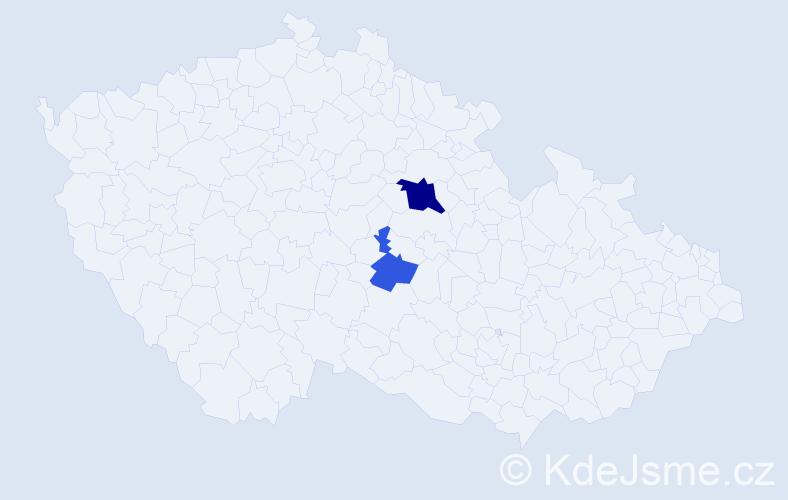 Příjmení: 'Engelmajer', počet výskytů 4 v celé ČR