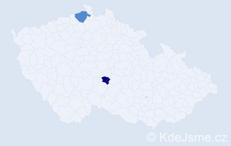 Příjmení: 'Larin', počet výskytů 3 v celé ČR