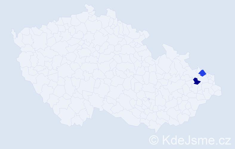 Příjmení: 'Heršková', počet výskytů 2 v celé ČR