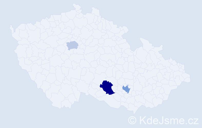 Příjmení: 'Cantillo', počet výskytů 3 v celé ČR